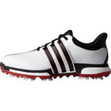 Men's Tour360 Boost Spiked Golf Shoes - Ftwr White/ Core Black/Power Red