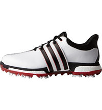 Men's Tour360 Boost Spiked Golf Shoes - White/Core Black/Power Red