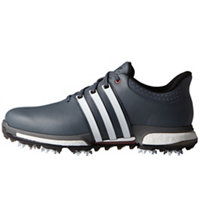 Men's Tour360 Boost Spiked Golf Shoes - Onix/White/Shock Red