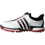 Men's Tour360 BOA Boost Spiked Golf Shoes - Ftwr White/Core Black/Power Red