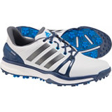 Men's Adipower Boost 2 Spiked Golf Shoes - Ftwr White/Mineral Blue/Shock Blue
