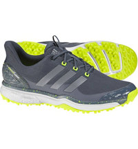 Men's Adipower Sport Boost 2 Spiked Golf Shoes - Onix/Iron Metallic/Solar Yellow
