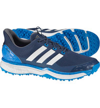 Men's Adipower Sport Boost 2 Spiked Golf Shoes - Mineral Blue/Ftwr White/Shock Blue