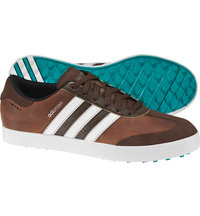 Men's Adicross V Spikeless Golf Shoes - Brown/Ftwr White/Eqt Green