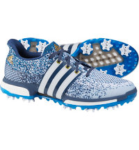 Men's Tour360 Prime Boost Spiked Golf Shoes - Ftwr White/Shock Blue/Mineral Blue