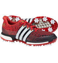 Men's Tour360 Prime Boost Spiked Golf Shoes - Core Black/White/Power Red