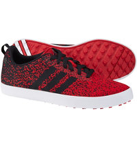 Men's Adicross Primeknit Spikeless Golf Shoes - Power Red/Core Black/Ftwr White
