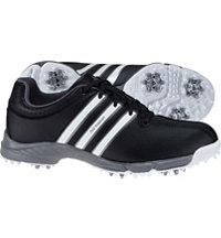 Junior's 360 Traxion Spiked Golf Shoes - Core Blk/Ftwr Wht/Iron Met (#F33388)