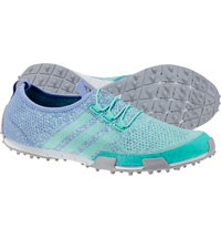 Women's Ballerina Primeknit Spikeless Golf Shoes - Mint Burst/Lvndr Mst/Silver Metal