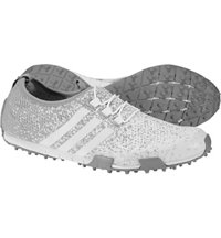 Women's Ballerina Primeknit Spikeless Golf Shoes - Ftwr White/Light Onix/Silver Metal