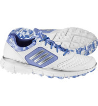 Women's Adistar Sport Spikeless Golf Shoes - Ftwr White/Matte Silver/Wild Orchd