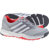 Women's Adipower Sport Boost 2 Spikeless Golf Shoes - Clear Onix/Ftwr White/Shock Red