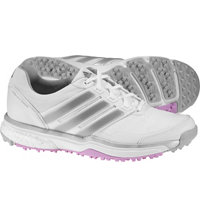 Women's Adipower Sport Boost 2 Spikeless Golf Shoes - Ftwr White/Matte Silver/Wild Orchd