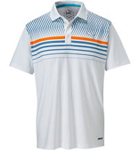 Men's Surface Stripe Short Sleeve Polo
