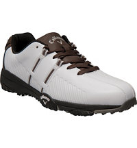 Men's Chev Comfort Spikeless Golf Shoes - White/Brown/Black (# M188-40)