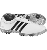 Men's Adipure Flex Spiked Golf Shoes -  White/Core Black/Silver Metal