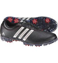 Men's Adipure Flex Spiked Golf Shoes - Core Black/White/Power Red