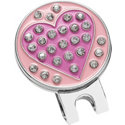 ZTech Rhinestone Heart Ball Marker with Hat Clip