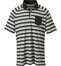 Men's Ace Stripe Short Sleeve Polo