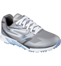 Women's GoGolf Blade Spiked Golf Shoes - Grey/Blue (#13635-GYBL)