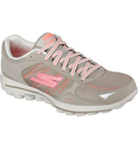 Women's  GOWalk 2 Lynx Ballistic Spikeless Golf Shoes - Nat/Coral (#13638)