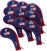 USA ZIPPER IRON COVERS 10-PK