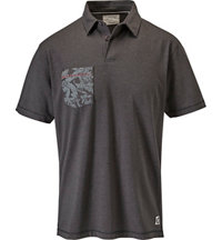 Men's Floral Printed Short Sleeve Polo