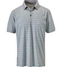 Men's End on End Yarn Dyed Short Sleeve Polo