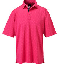 Men's Pin Dot Short Sleeve Polo