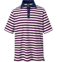 Men's Multi Stripe Stretch Short Sleeve Polo