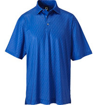 Men's Tonal Print Short Sleeve Polo