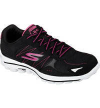Women's GOWalk 2 Lynx Ballistic Spikeless Golf Shoes - Blk/Pnk (#13638)