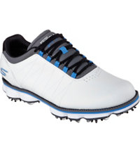 Men's Pro Kuchar Spiked Golf Shoes - Wht/Blk/Blu (# 53529)