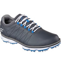 Men's Pro Kuchar Spiked Golf Shoes - Charcoal/Blue (# 53529-CCBL)