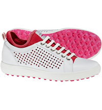 Women's Casual Hybrid HM Spikeless Golf Shoes - White/Rasberry