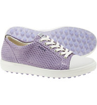 Women's Casual Hybrid Spikeless Golf Shoes - Lt Purple Dots