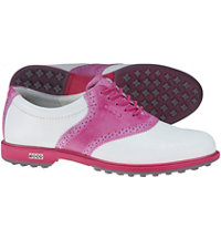 Women's Classic Hybrid II Spikeless Golf Shoes - White/Pink (#111073-57676)