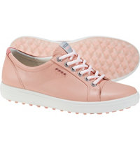 Women's Causal Hybrid Spikeless Golf Shoes - Silver/Pink (#122013-01216)