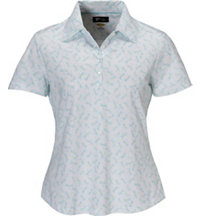 Women's Dragon Print Short Sleeve Polo