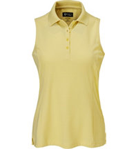 Women's Textured Sleeveless Polo