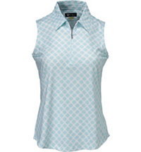 Women's Shell Print Sleeveless Polo