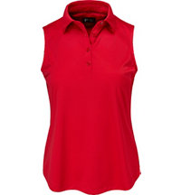 Women's Pintuck Sleevless Polo