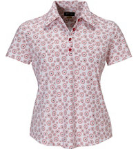 Women's Geo Print Short Sleeve Polo