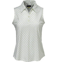 Women's Ditzy Print Sleeveless Polo