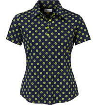 Women's Pin Wheel Short Sleeve Polo