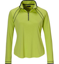 Women's Piped Trim Quarter-Zip Jacket