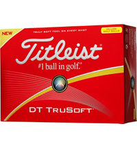 Personalized DT TruSoft Yellow Golf Balls