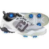 Men's Freestyle Saddle Spiked Golf Shoes - Wht/Lt Gry/ Charc (FJ# 57330)