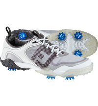 Men's Freestyle Saddle Spiked Golf Shoes -Wht/Lt Gry/ Charc (FJ# 57330)
