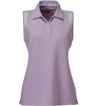 Women's Textured Insert Sleeveless Polo